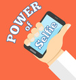 Power of selfie concept Flat design vector image
