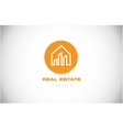 Real estate house home logo icon design vector image