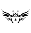 flying husky vector image vector image