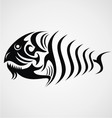 Tribal Fish vector image vector image