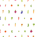 Mixed vegetables seamless pattern on white vector image vector image