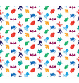 Animals icons seamless pattern vector image