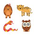 fun animals vector image