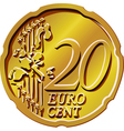 gold euro cent vector image vector image