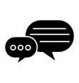chats rounds icon black sign vector image
