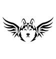 flying husky vector image