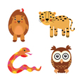 fun animals vector image