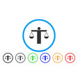 lawyer weight rounded icon vector image