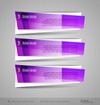 Modern Glossy Banners vector image