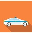 Police sedan flat vector image