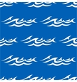 Seamless pattern with water waves vector image