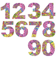 Set arabic numerals vector image
