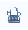Typewriter sketch icon vector image