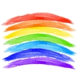 watercolor rainbow on white background vector image