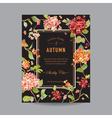 Vintage Floral Frame - Autumn Hortensia Flowers vector image