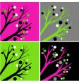 decorative trees vector image