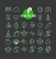 different healthcare icons collection web and vector image