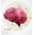 Polygonal modern elements vector image