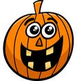 jack lantern cartoon vector image vector image