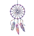 Watercolor dream catcher Hand drawn vector image