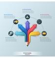 Arrow Pencil Infographic Design Template vector image