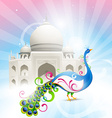 beautiful taj mahal vector image