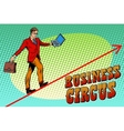 Businessman acrobat business circus vector image