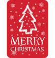 christmas greeting with christmas tree vector image