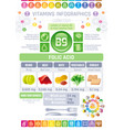 folic acid vitamin b9 rich food icons healthy vector image