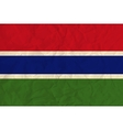 Gambia paper flag vector image