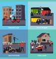 ghetto slum icon set vector image