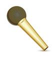 golden microphone vector image