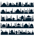 islamic city skylines with mosque and minaret vector image