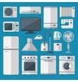 Kitchen appliances set vector image