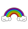 rainbow icon icon cartoon vector image