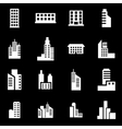 white building icon set vector image