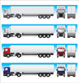 Semi-trailer truck vector image