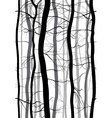 Forest Branches seamless pattern Monochrome vector image