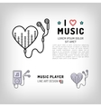 Music player isolated icon I love music vector image