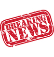 Breaking news stamp vector image
