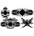 set of ornamental labels vector image vector image