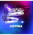 Movie cinema poster vector image
