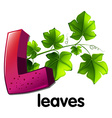 A letter L for leaves vector image