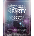Beach Party Flyer for your latin music event vector image