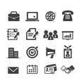 business and office icon vector image vector image