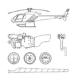 Repair and maintenance of the helicopter vector image