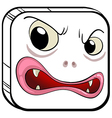 A square shaped face vector image