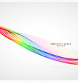 awesome colorful wave background design vector image
