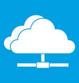cloud computing connection icon white vector image