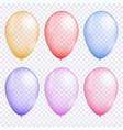 colorful balloon set vector image